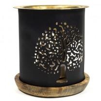 Aroma lampe i metal livets træ