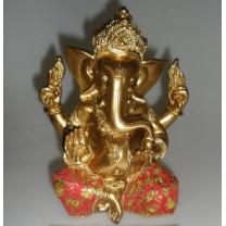 Ganesha i guld / rød