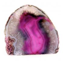 Agat lysestage Pink