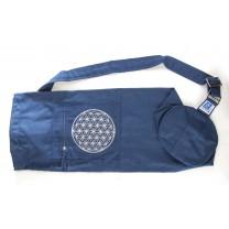 Yoga taske med livets blomst blå