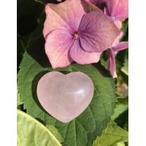 Rosakvarts hjerte 4 cm