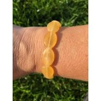 Honning calcit armbånd