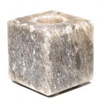 Salt krystal fyrfadsstage grå cube