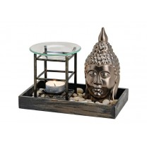 Aromalampe med Buddha Hoved