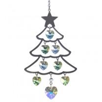 Hjerte Krystaller Juletræ Grøn