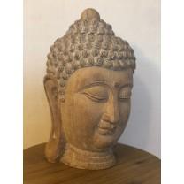 Buddha hoved i træ look