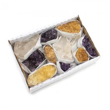 Klynge box - Ametyst - citrin - Bjergkrystal