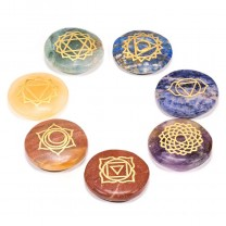 Chakra symbol krystal sæt flade