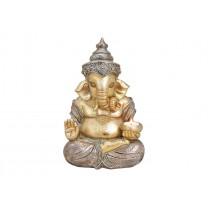 Glimmer Ganesha med lys 31 cm
