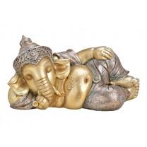 Glimmer Ganesha figur liggende