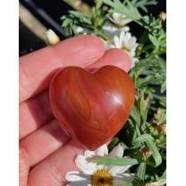 Karneol hjerte 4cm