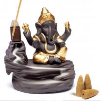Backflow røgelses holder Ganesha
