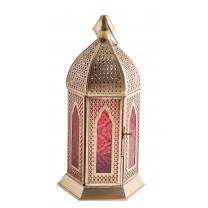 Orientalsk lanterne guld/rød