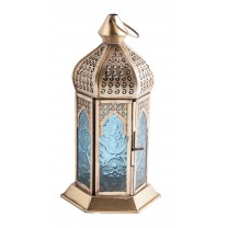Orientalsk lanterne guld / blå