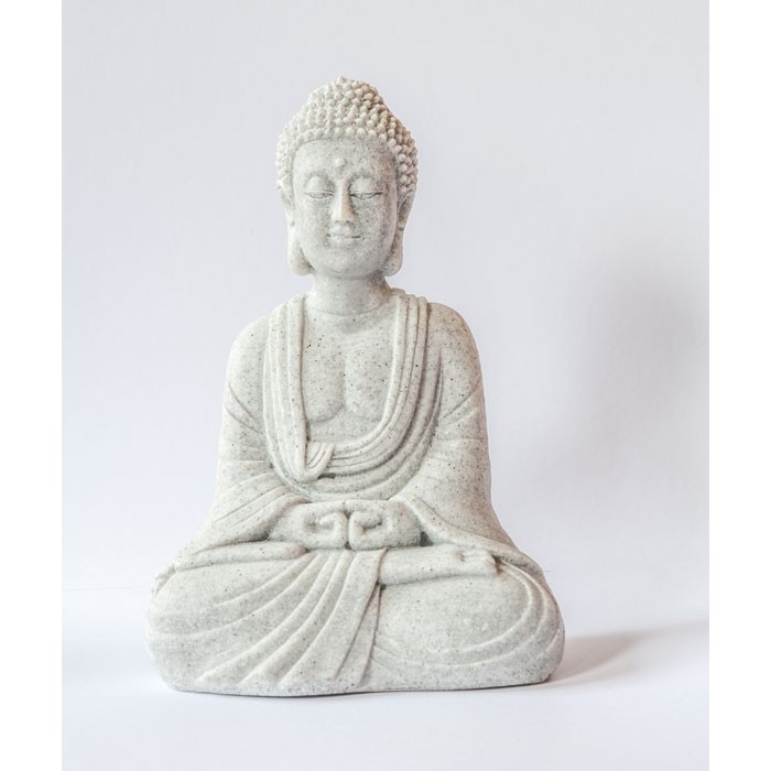 Flot lille lys mediterende buddhafigur som pynter for Figur buddha