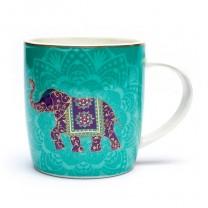 Te gaveæske m. krus, si og låg - Elefant