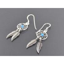 Drømmefanger sølv øreringe