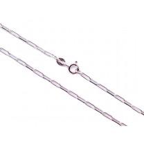 Link Halskæde i sølv 60cm