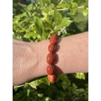 Rød Jaspis armbånd