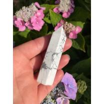 Howlit tårn hvid 7 - 8 cm