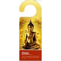 Dørskilt - shhh jeg mediterer type 2