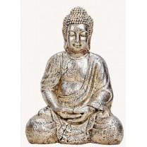 Buddha figur guld/sølv 41cm