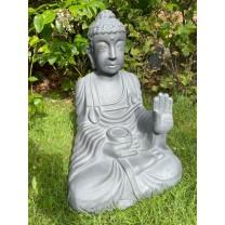 Stor Grå Buddha 51 cm