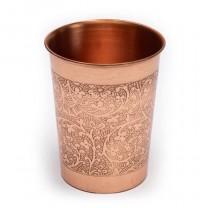 Kobber kop m. Blomster mønster