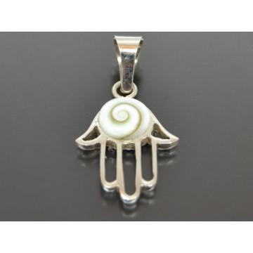 Shivas øje vedhæng med fatimashånd