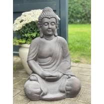 Stor mørke grå Buddha 62 cm