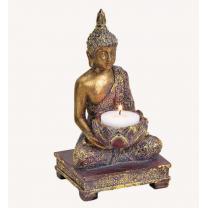 Buddha til fyrfadslys - Gold glitter