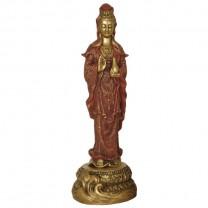 Stående Kuan--Yin figur