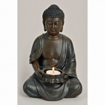 Buddha med lys