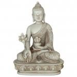 Medicin Buddha hvid sten finish