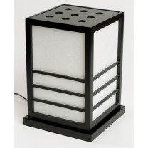 Nikko black - japansk lampe 28 cm