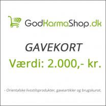 Gavekort værdi 2000,- kr.