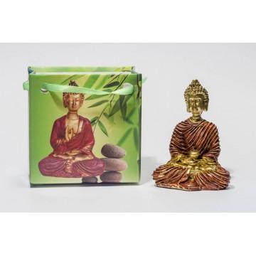 Lille Buddha figur i flot gavepose - variant J