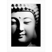Buddha art print - dark - 0110