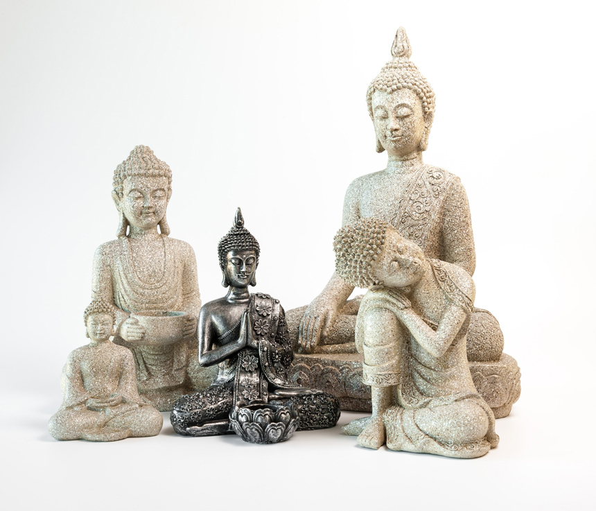 Buddha figur i poly resin